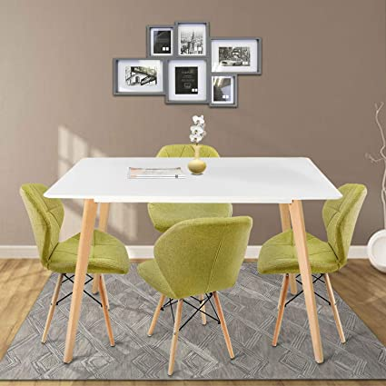 Amazoncom Dl Furniture Modern Square Kitchen Dining Table With 4