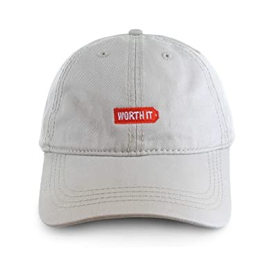 Worth It Logo Dad Hat at Amazon Men s Clothing store  dc43314b96d