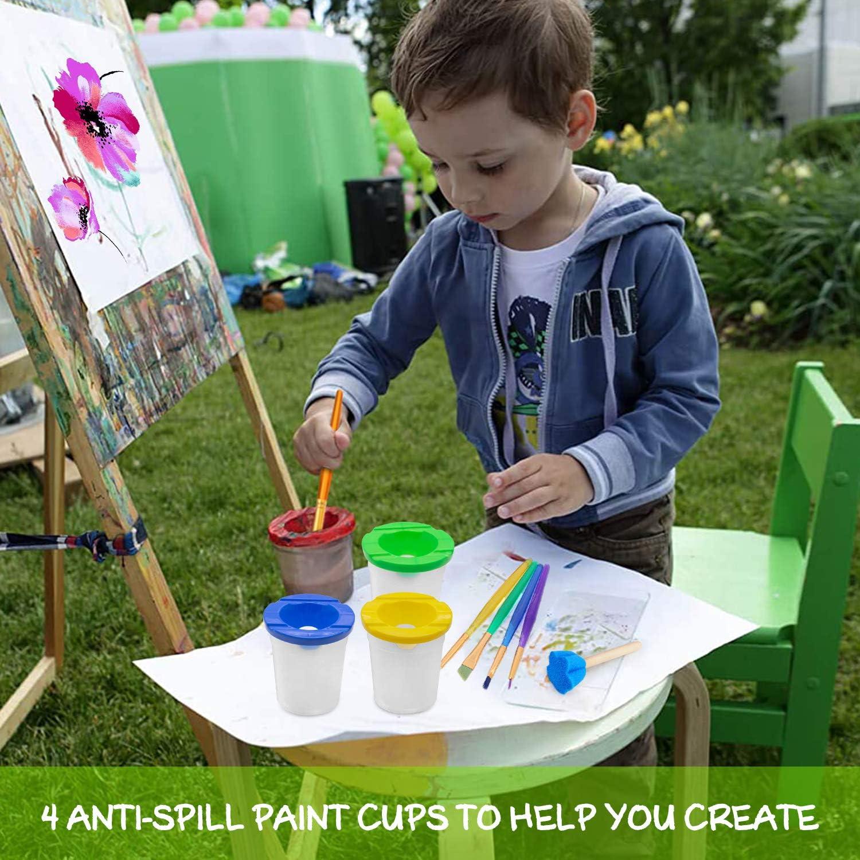 Flower Stamp Aucun gobelet de Peinture renvers/é Brosses de Peinture /Éponge Brosses de Peinture AYUQI 75Pcs /éponges de Peinture pour Enfants DIY Art /& Craft