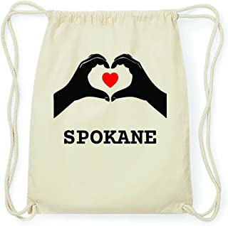 jollify Spokane Hipster Sac de gym Sac à dos en coton–Couleur: Naturel