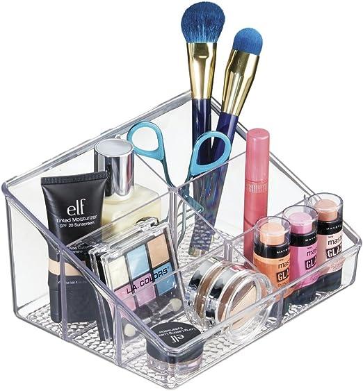 mDesign Organizador de cosméticos Transparente – Caja para ...
