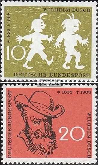 Brd Brdeutschland 281 282 Komplausgabe 1958 Wilhelm Busch