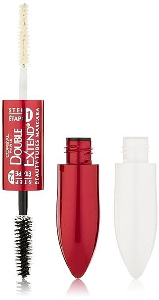 fdc44330a37 Amazon.com: L'Oréal Paris Double Extend Beauty Tubes Lengthening Mascara,  Black, 0.33 fl. oz.: Prime Pantry