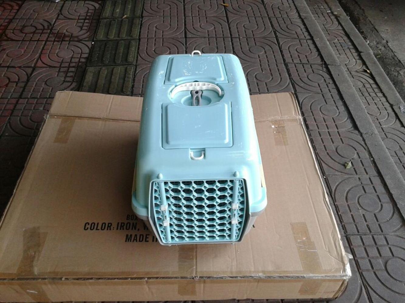 Barato xueyan Pet caja de aire perro perro perro jaula vacía perro gato salir kit de gato envío jaula jaula portátil caja de perro de peluche jaula, s-4832.530cm, light verde