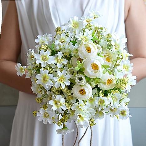 Bouquet Sposa Margherite.Lianle Bouquet Da Sposa Elegante Artificiale Margherita