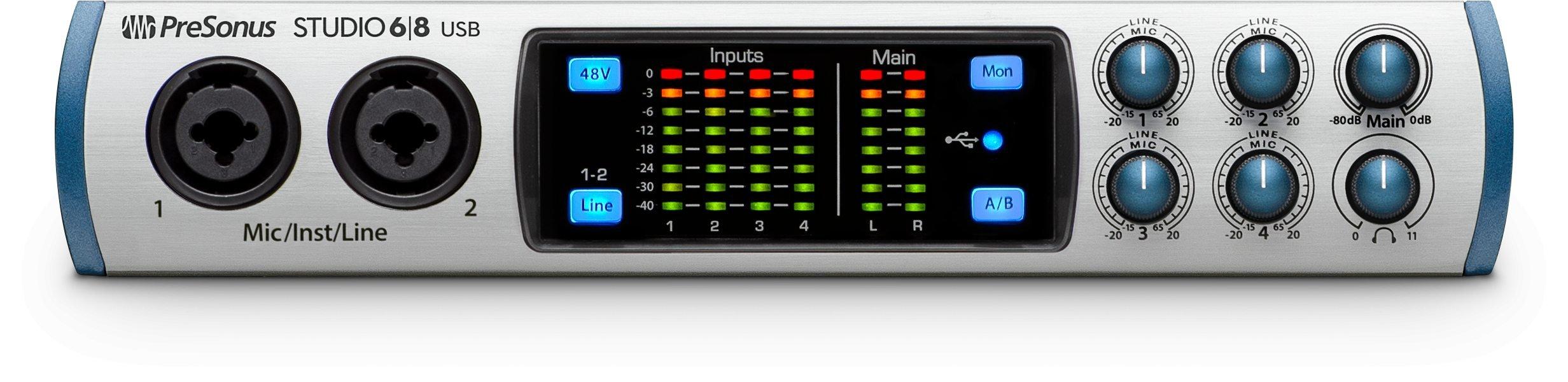 Presonus Studio 68 Audio Interface with AKG K240 Studio Headphones by PreSonus (Image #2)