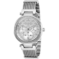 Invicta Women's Angel Quartz Stainless-Steel Strap, Silver, 18 Casual Watch (Model: 28915