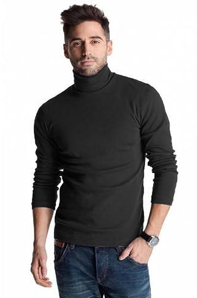 Polo negro de algodón pesado de 300 g/m², para invierno, con ...