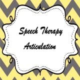 Speech Therapy Articulation
