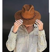 Sombrero COWBOY GIRL de piel color cafe para mujer
