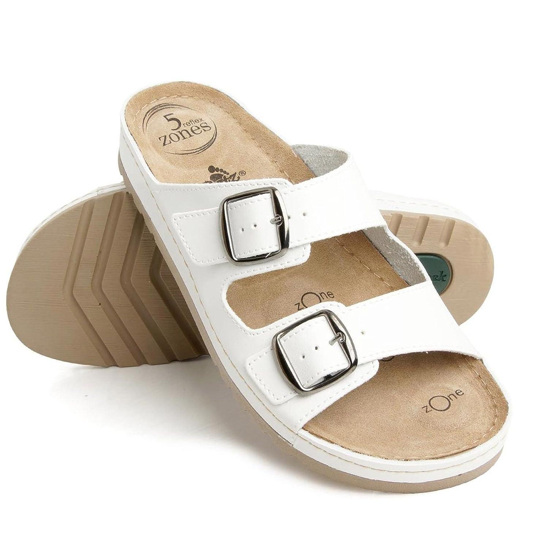 Batz Zoe 5-Zones Handmade High Quality Leather Slip-On Womens Clogs, White,  EU 40, UK 6.5: Amazon.co.uk: Shoes & Bags