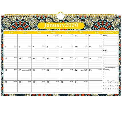 Calendario 2019-2020, calendario de pared 2019, calendario ...