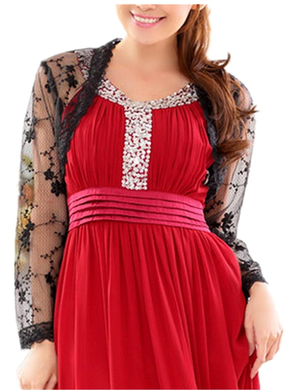 YOGLY Damen Strandjacke Boleros Bolero Cardigan Bluse Blazer Cardigan Summer für Abendkleid lange Arm