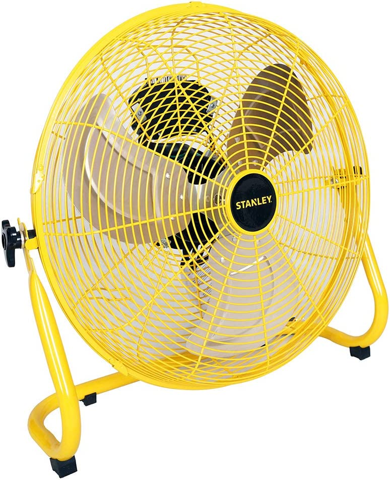 STANLEY ST-20F High Velocity Direct Drive Floor Fan 20 Yellow, Black