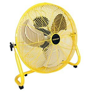 "STANLEY ST-20F High Velocity Direct Drive Floor Fan 20"" Yellow, Black"