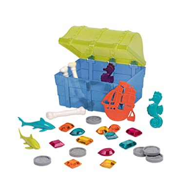 Battat – Pirate Diving Set – Water Toys & Pool Toys Diving Game In A Treasure Toy Box for Kids Age 8+ (28 Pcs): Toys & Games