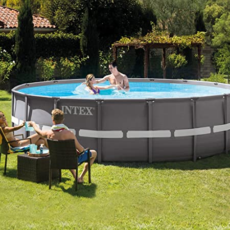 Intex Ultra Frame Piscina Desmontable, 19156 litros, Gris ...