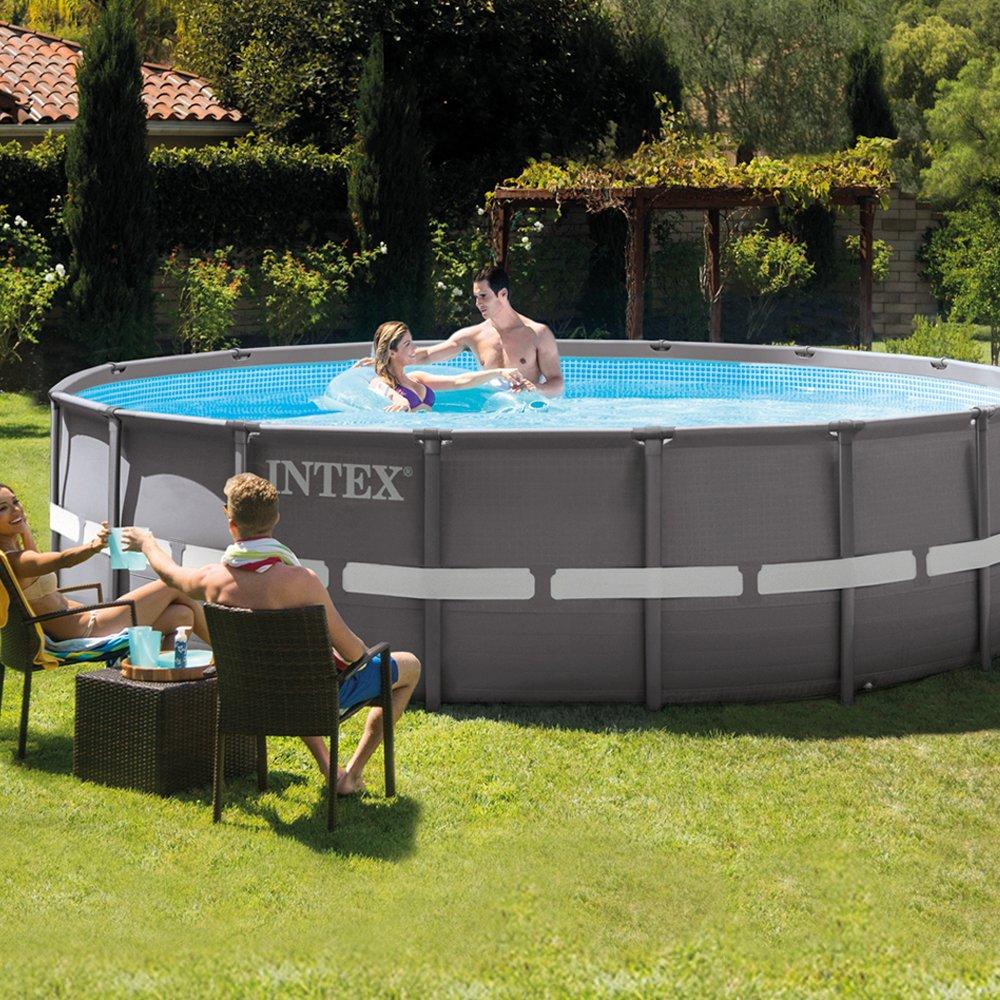 Intex 26324NP - Piscina desmontable Ultra Frame 488 x 122 cm, 19.156 litros: Amazon.es: Jardín