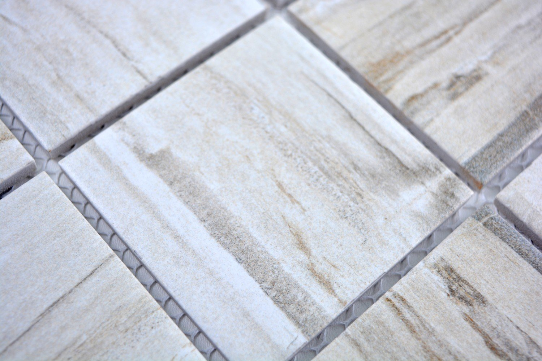 Mosaik Fliese Keramik beige Holzoptik hell f/ür BODEN WAND BAD WC DUSCHE K/ÜCHE FLIESENSPIEGEL THEKENVERKLEIDUNG BADEWANNENVERKLEIDUNG Mosaikmatte Mosaikplatte