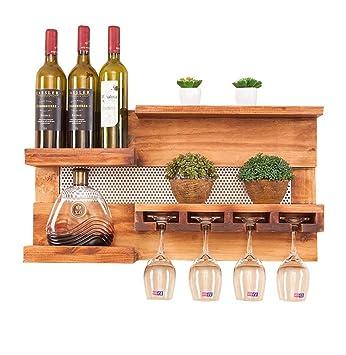 casier à vin Porte-bouteilles à vin en bois mural Cabinet Suspendu ...