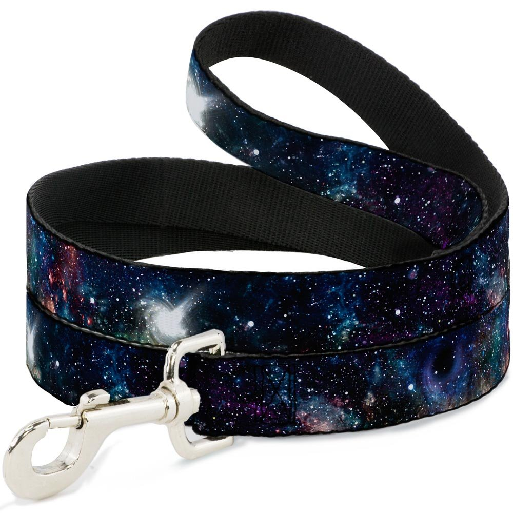 Buckle Down Pet Leash - Galaxy Collage - 6 Feet Long - 1'' Wide