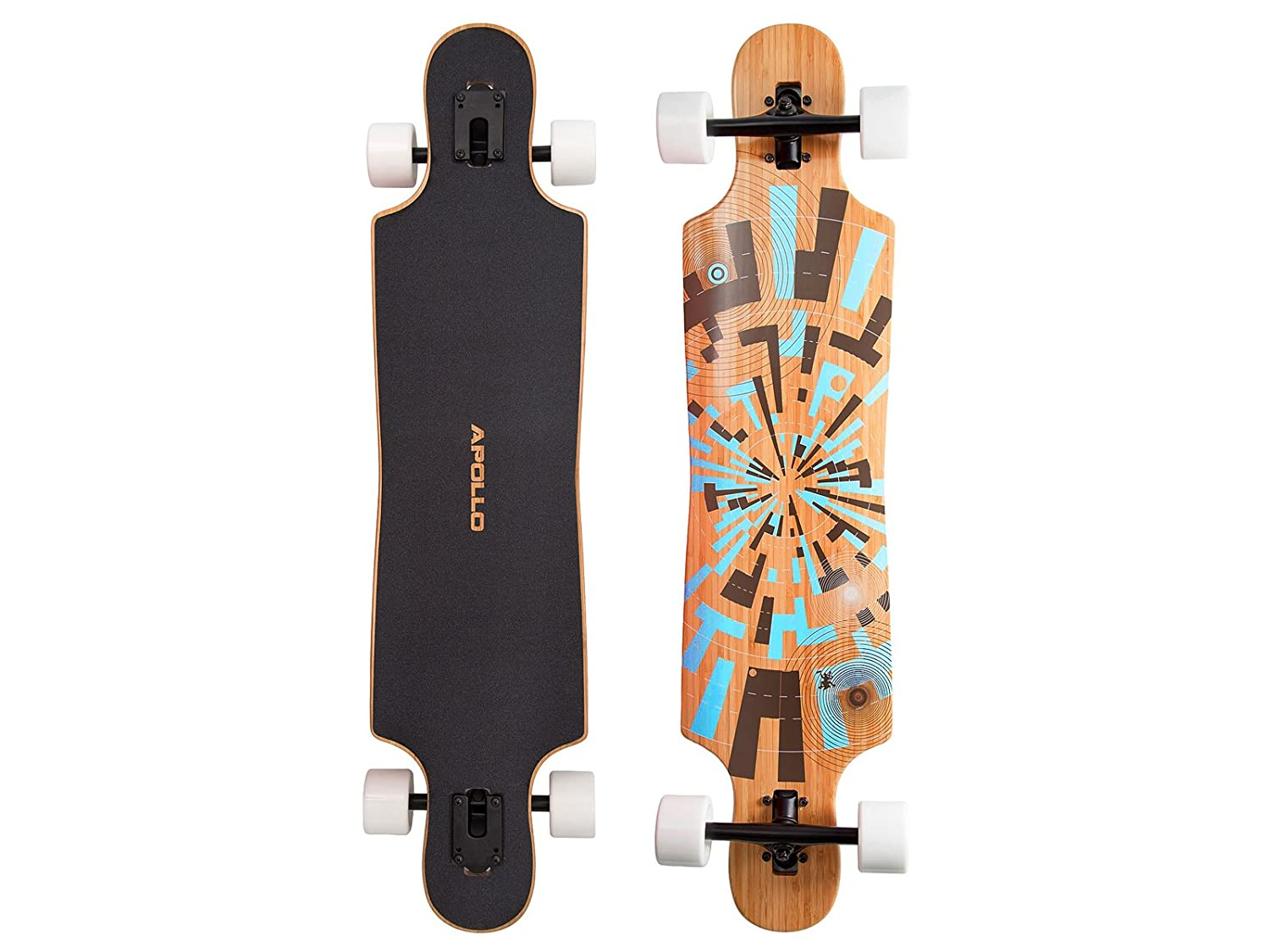 Apollo Longboard Twin-Tip Drop-Thru, Soul Bamboo, Flex 2, 101,8 cm x 24 cm: Amazon.es: Deportes y aire libre