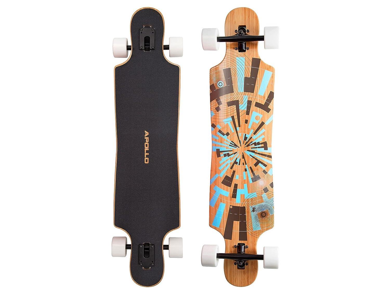 Apollo Longboard Twin-Tip Drop-Thru, Soul Bamboo, Flex 2, 101,8 cm x 24 cm: Amazon.es: Deportes y aire libre