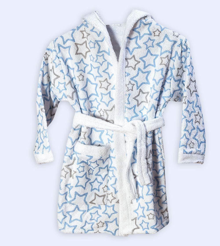 Design Rose Estrellitas Ti TIN Enfants Peignoir pour enfant avec capuche 100/% coton /éponge Doux taille 1 ann/ée absorbant