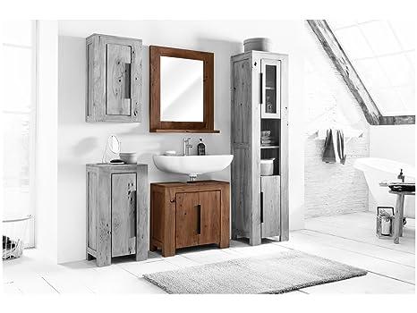 Woodkings® kleines Bad Set Auckland Echtholz Akazie massiv ...