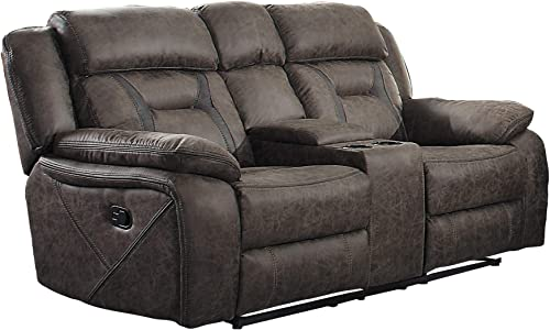 Homelegance Oliver 76″ Microfiber Double Reclining Loveseat Manual