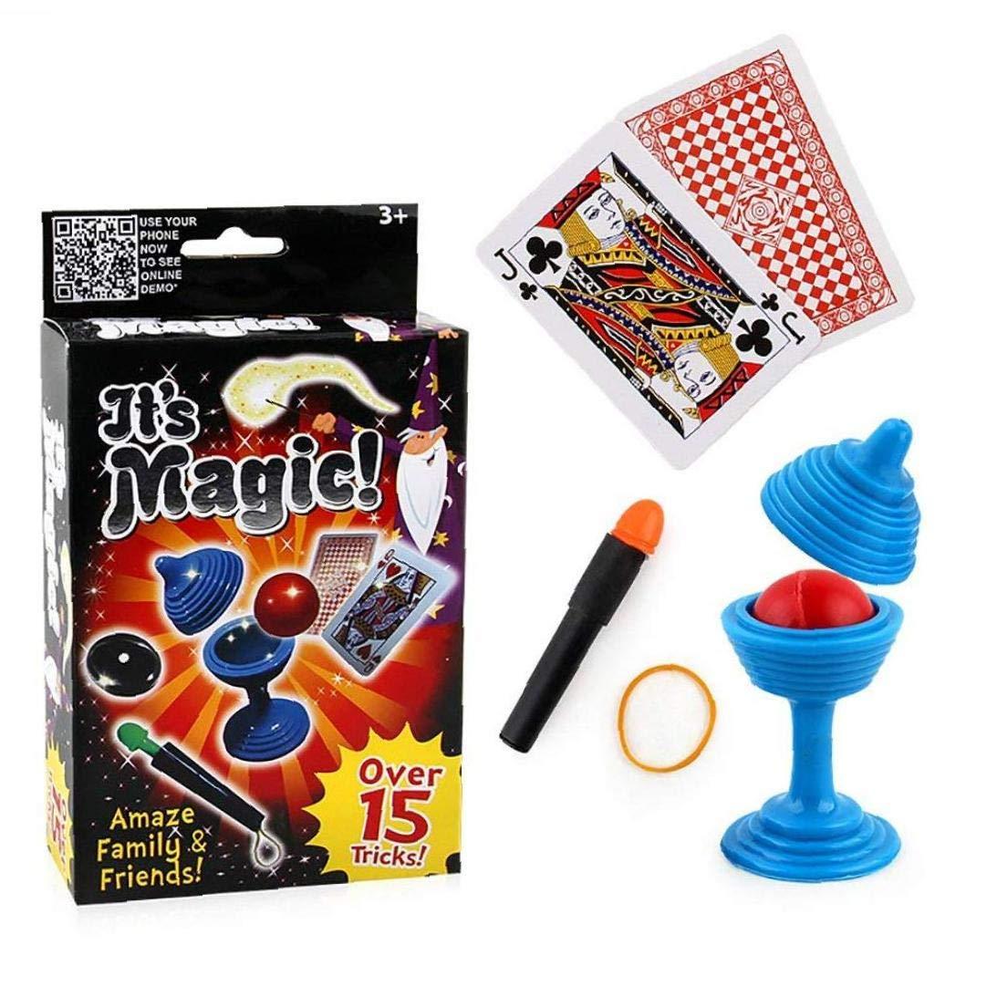3 Trucos PC Cl/ásico De Fuga Mini Bola M/ágica Poker Magia Truco Bandas De Goma Mago De La Etapa Puntales Juguetes Set