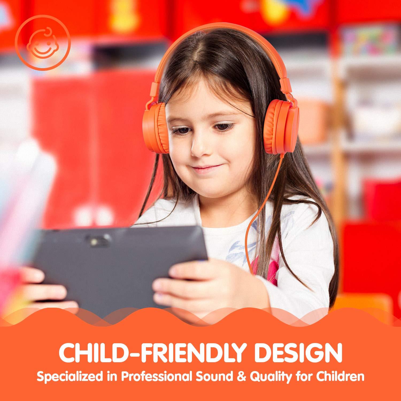 ONTA gorsun Foldable On Ear Audio Adjustable Lightweight Headphone for chlidren Cellphones Smartphones iPhone Laptop Computer Mp3/4 Earphones (Orange) by ONTA (Image #5)