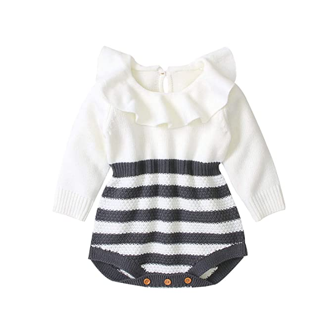 Amazon.com: Bebé tejer mameluco bebé conejo/flamenco trajes ...