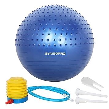 GYMBOPRO Fitness Pelota de Ejercicio - Bola Suiza con Bomba de Inflado,Bola de Yoga antirrebote y Antideslizante,Bola de Equilibrio para Gimnasio ...