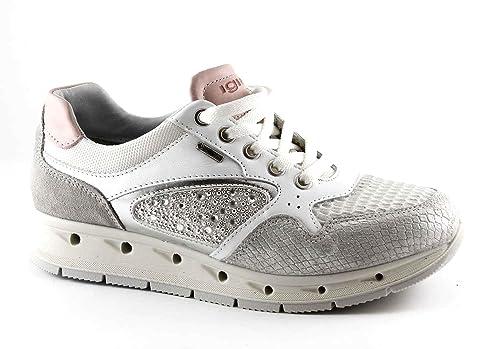 Gore Bianco Igi Scarpe Donna Pelle Argento amp;co Sneakers 77626 Lacci qVzSpLjUMG
