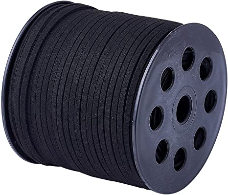 90m//roll Faux Suede Cord Roll String Leather Lace Beading Thread Suede Cording