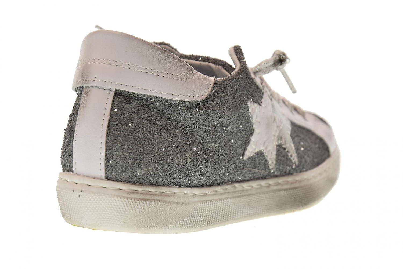 2 Star 2SD Frauen Niedrige Turnschuhe Schuhe 2SD Star 1865 Gray  Grau f31710
