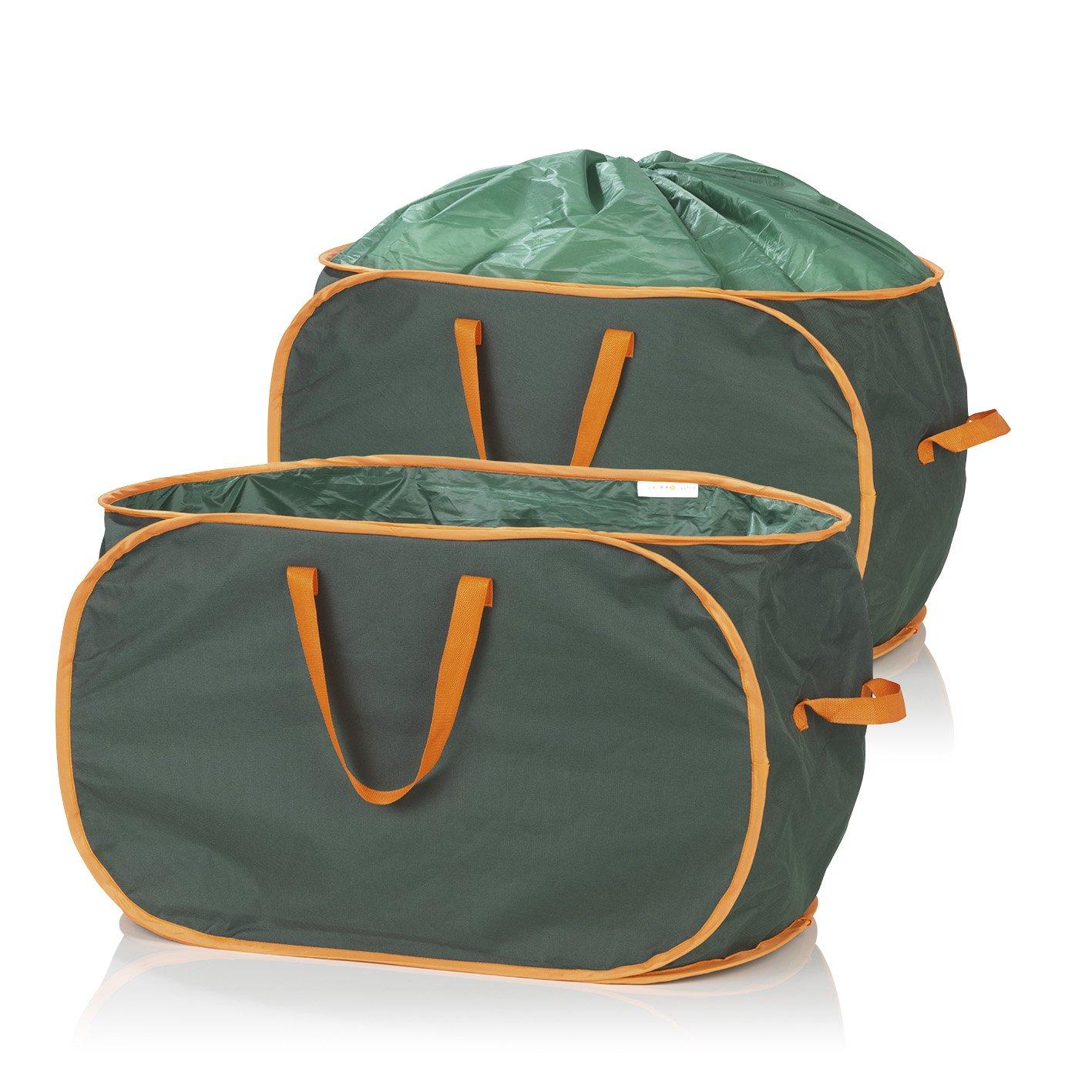 Prima Garden Gartenabfalltasche verschließbar - Laubtasche - Gartenabfallsack verschließbar