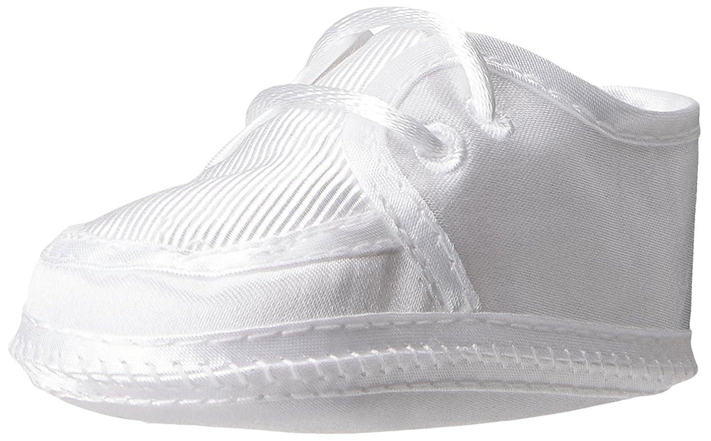 Preemie//Infant//Toddler Christening Day Matte Satin White Ribbed Crib Shoe