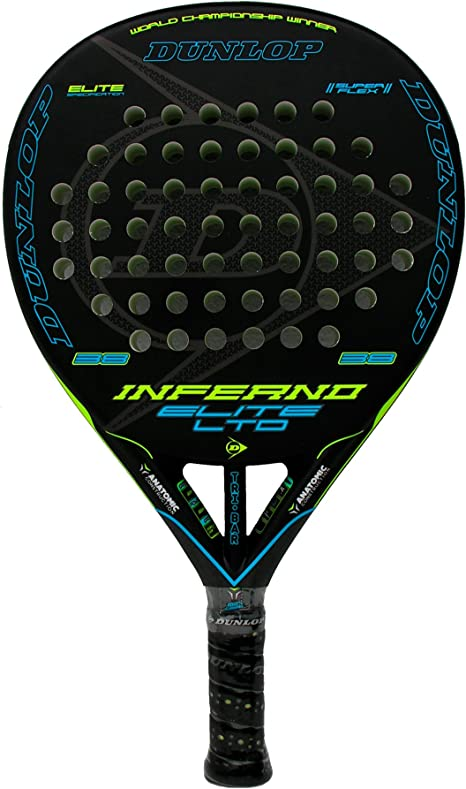 Dunlop Pala de pádel Inferno Elite LTD Yellow - Blue: Amazon.es ...