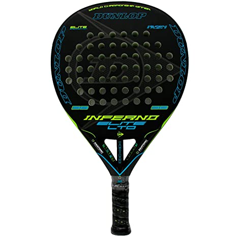 Pala de pádel Dunlop Inferno Elite LTD Yellow - Blue: Amazon.es ...