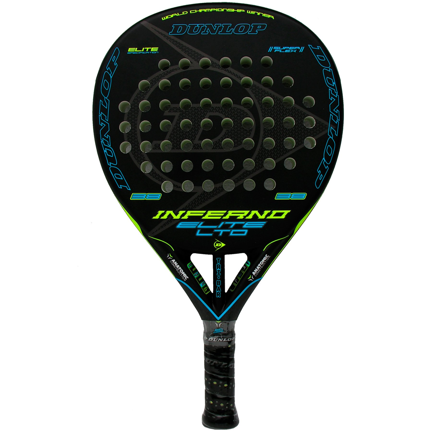 Pala de pádel Dunlop Inferno Elite LTD Yellow - Blue product image