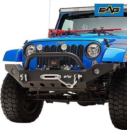 JK  Front Bumper With OE Fog Light holes/&Winch Plate For 07-19 Jeep Wrangler JK