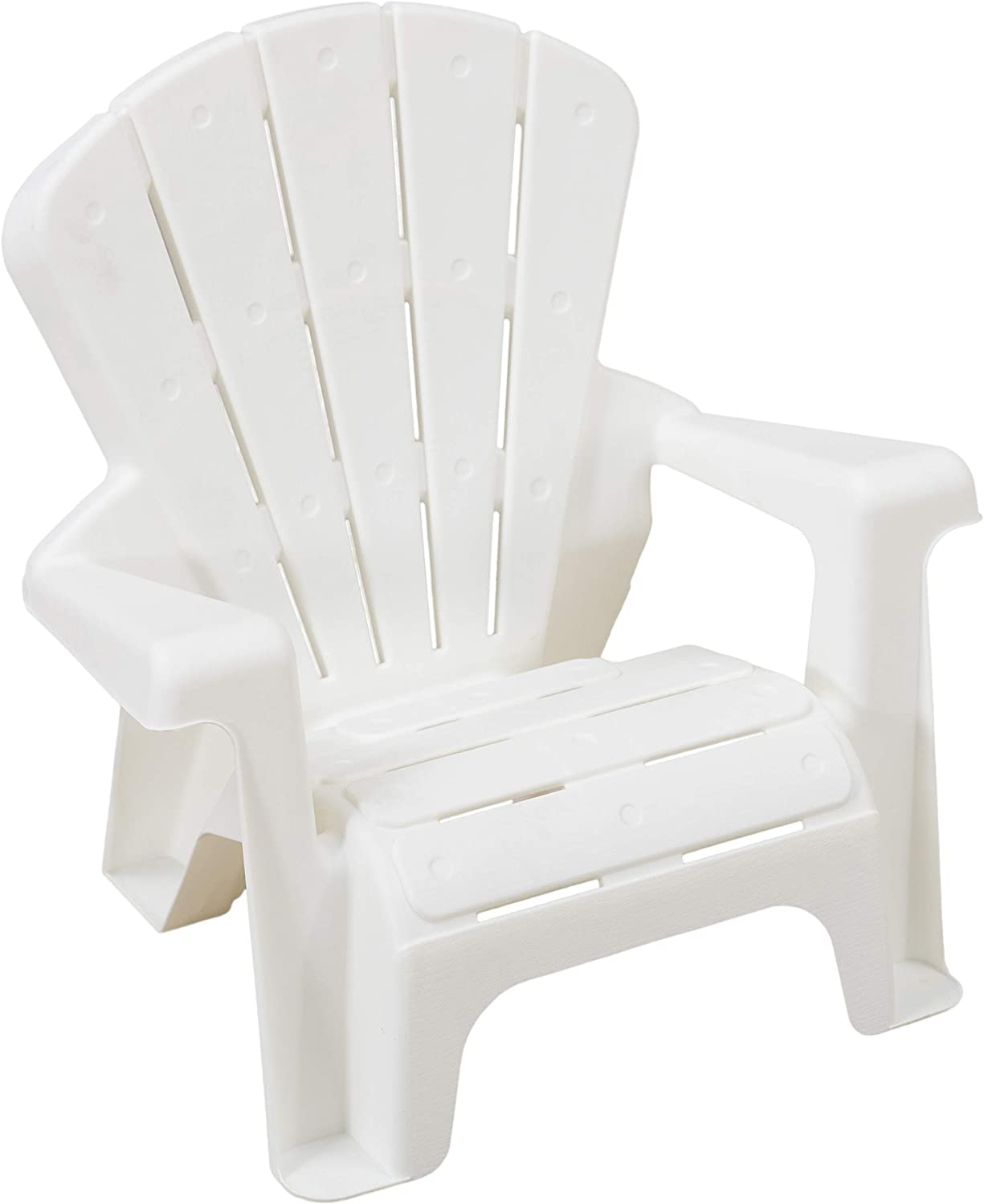 AmazonBasics Indoor and Outdoor Plastic Toddler Chairs - 4 Pack, White