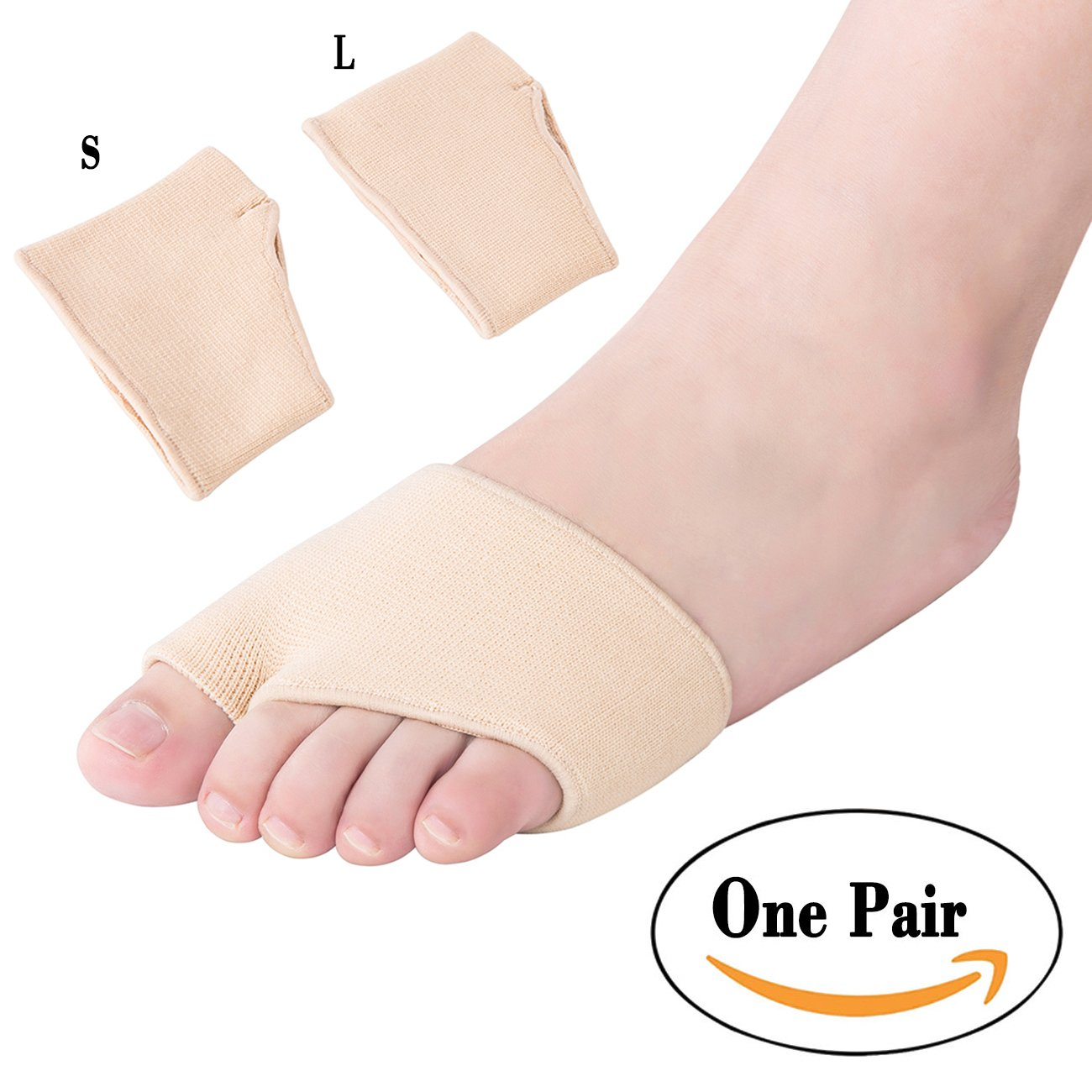 Dr. Kong Bunion Sleeves Half Socks Forefoot Cushions To Relief Forefoot Pain Bunion Aid Corrector (S)