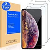 """GeekerChip Vetro Temperato per iPhone X/iPhone XS 5.8"""" Pellicola Protettiva[3 Pack], Pellicola Protettiva Schermo in Vetro Temperato per iPhone X/iPhone XS 5.8"""""""