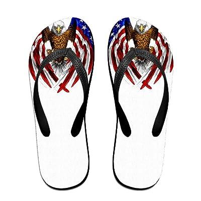 American Flag Wing Art Eagle ZUniverse Unisex Top Flip Flops Sandal