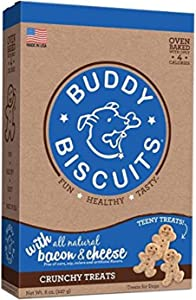 Buddy Biscuits Oven Baked Teeny Dog Treats - Whole Grain Treats for Small or Toy Breed Dogs