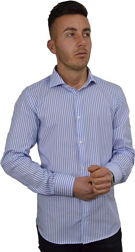 Iacobellis - Camisa para Hombre, Elegante Tejido de popelín ...
