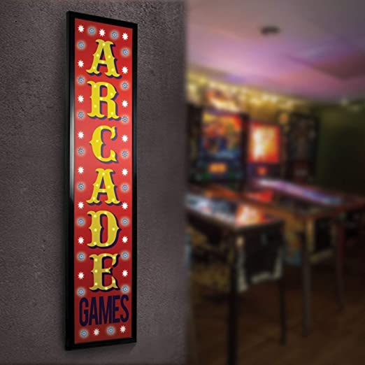 LED LIGHTED GAME ROOM SIGN PERSONALIZED HOME DECOR